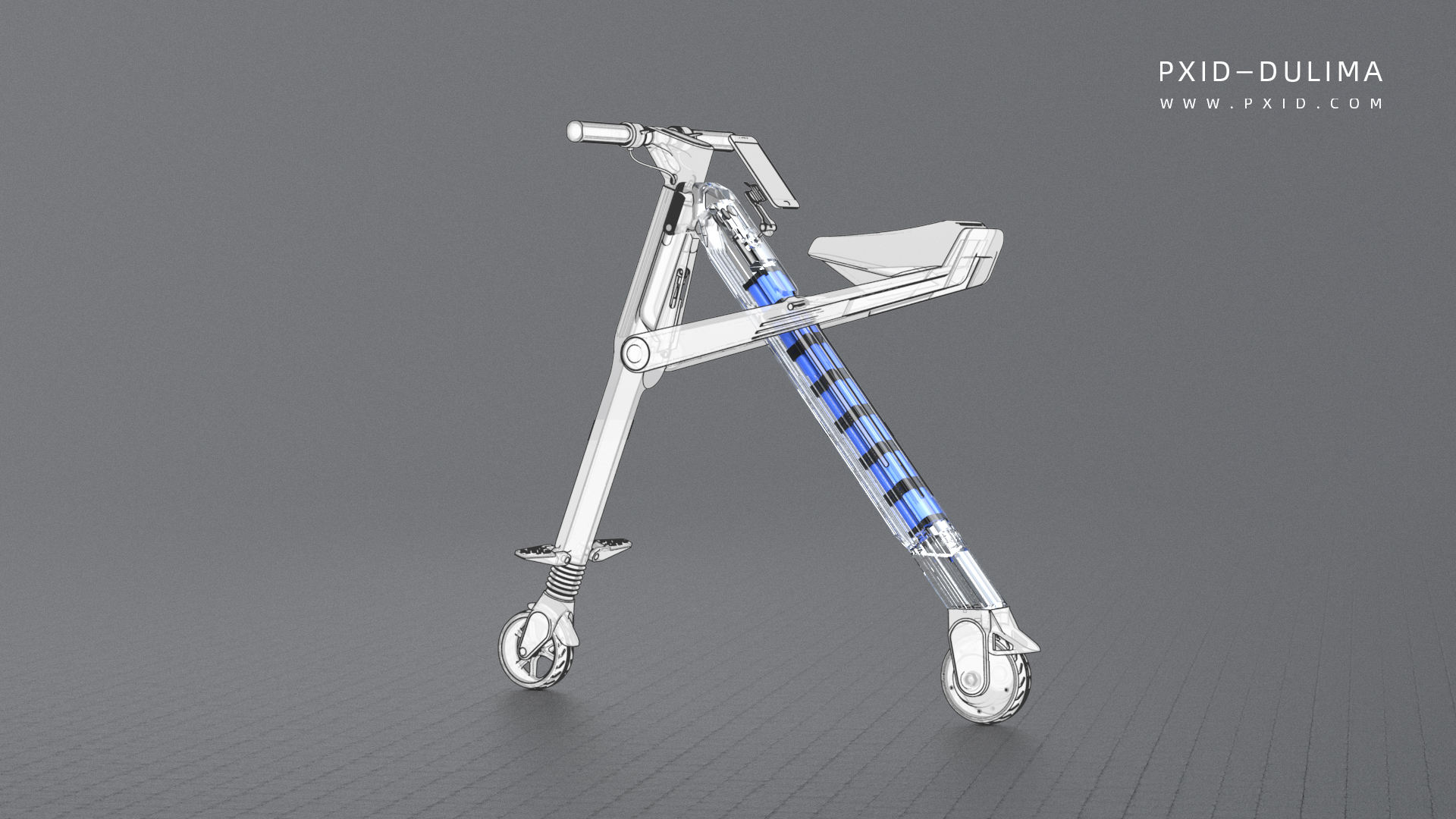 Ultra light folding - electric scooter design