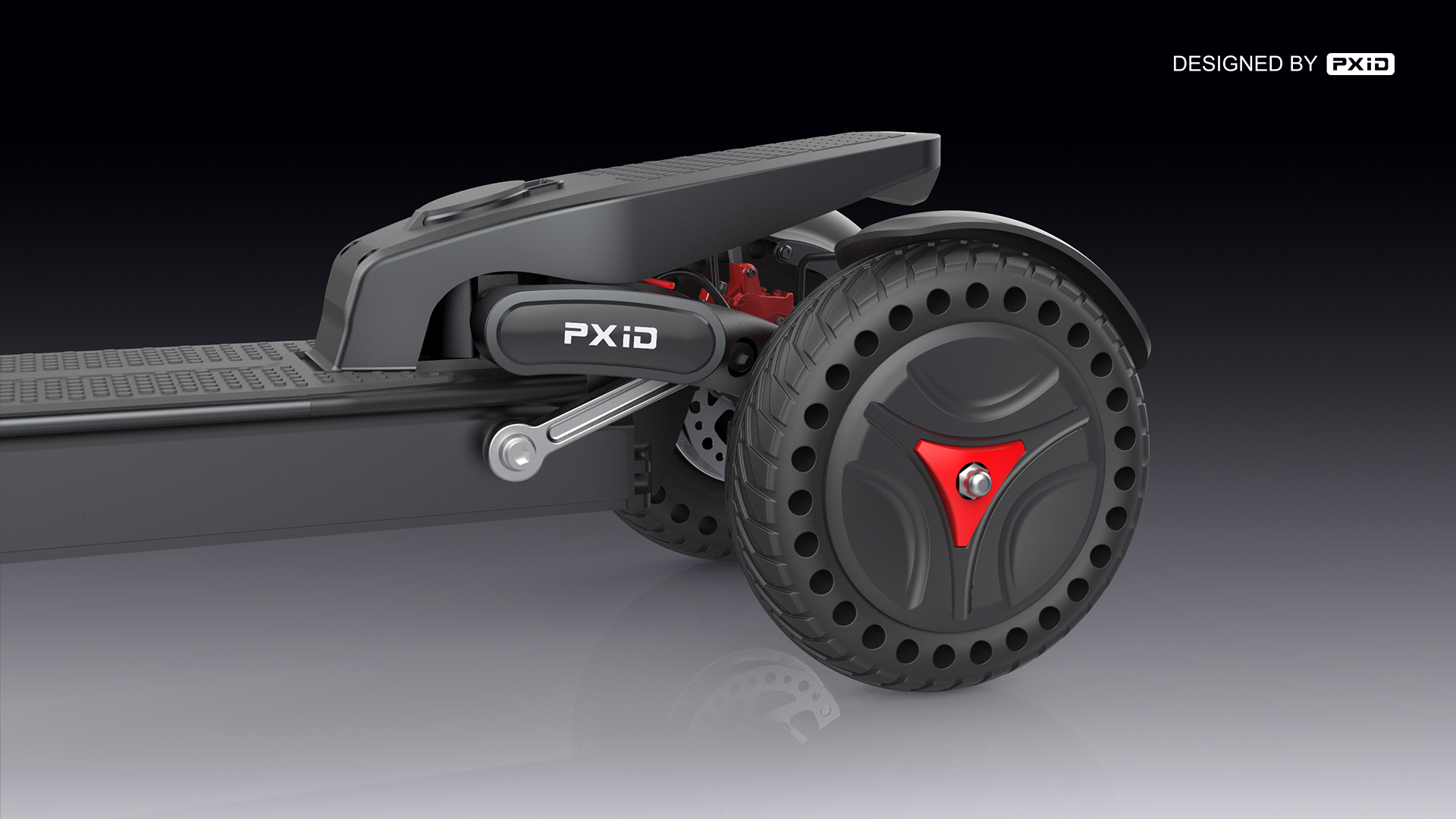 PXID designed 3 wheels powerful electric scooter