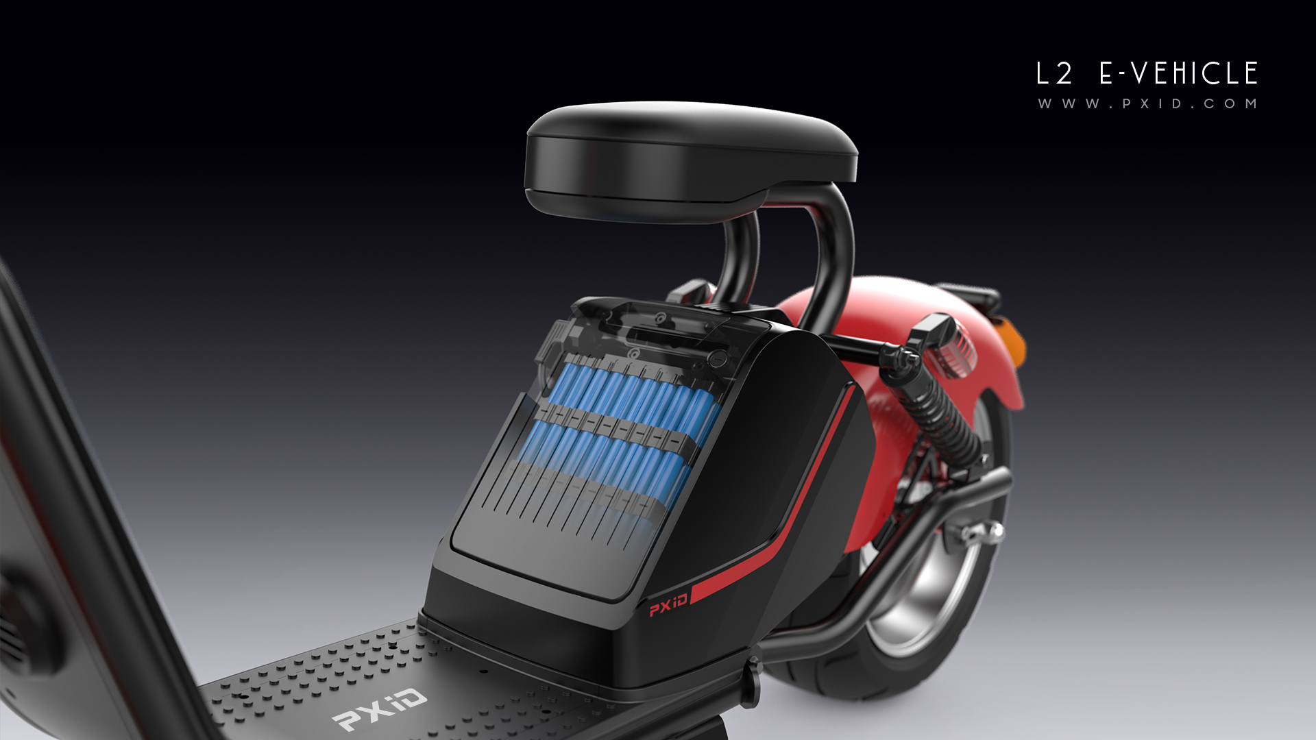 LuQi Electric Harley car design