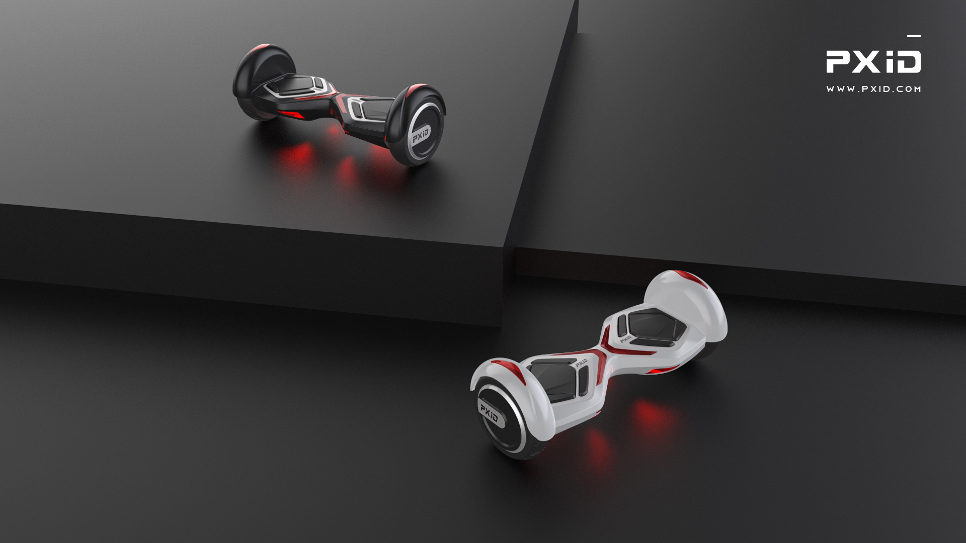 PXID 8 inch electric balance wheel scooter design