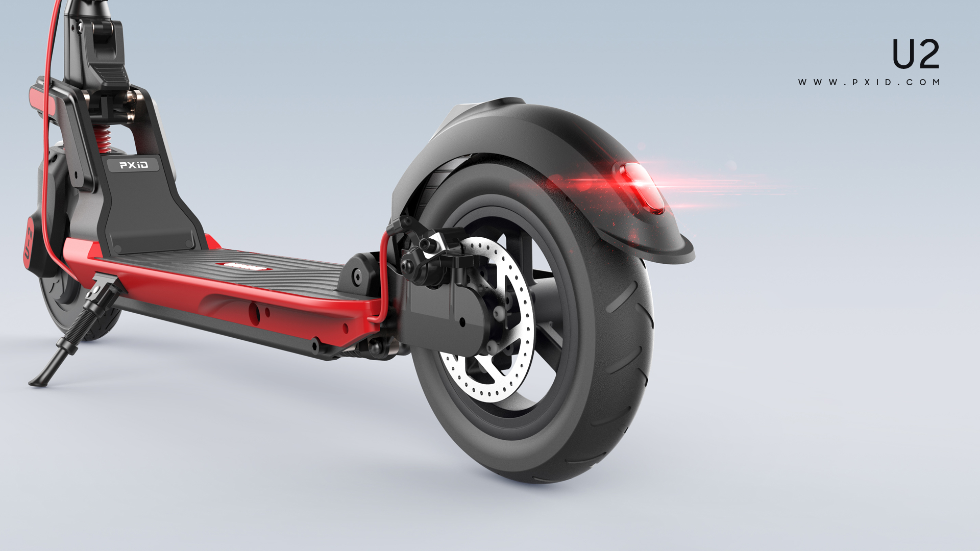 2019 folding two-wheel electric scooter design