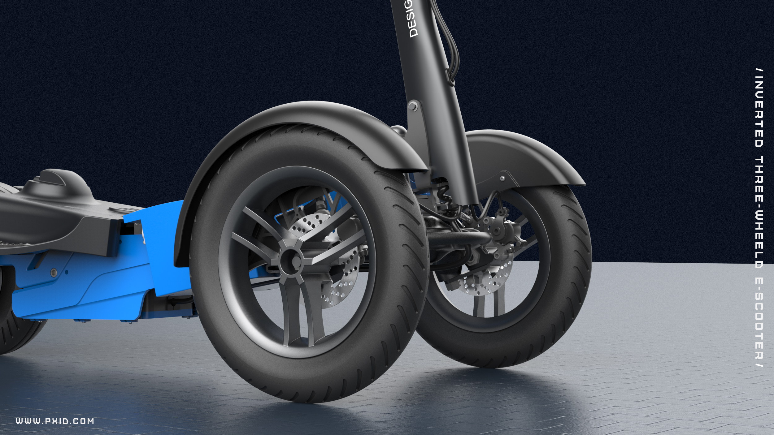 PXID new inverted three-wheeled electric scooter design
