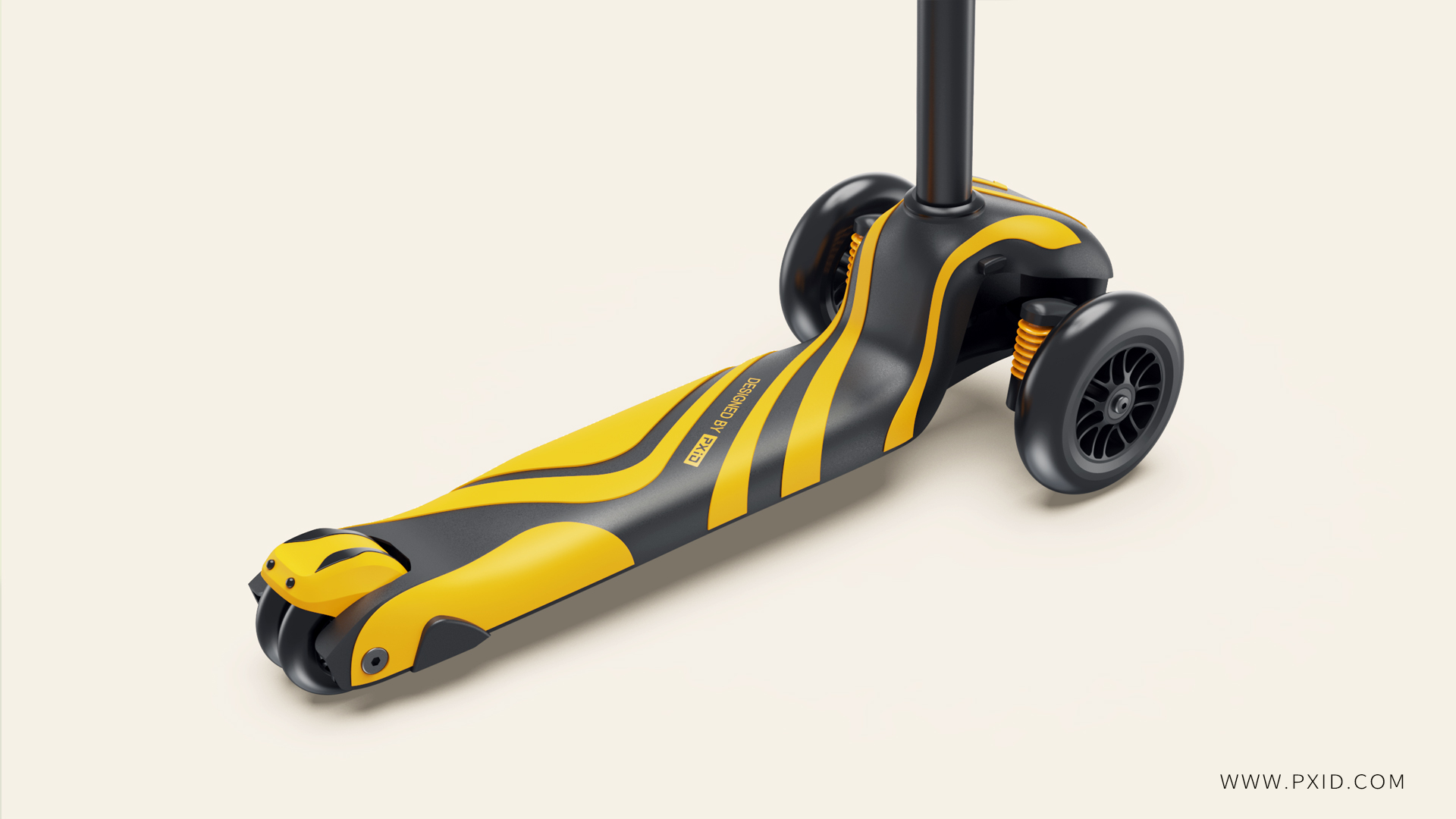 Design of children's scooter with both beauty and strength