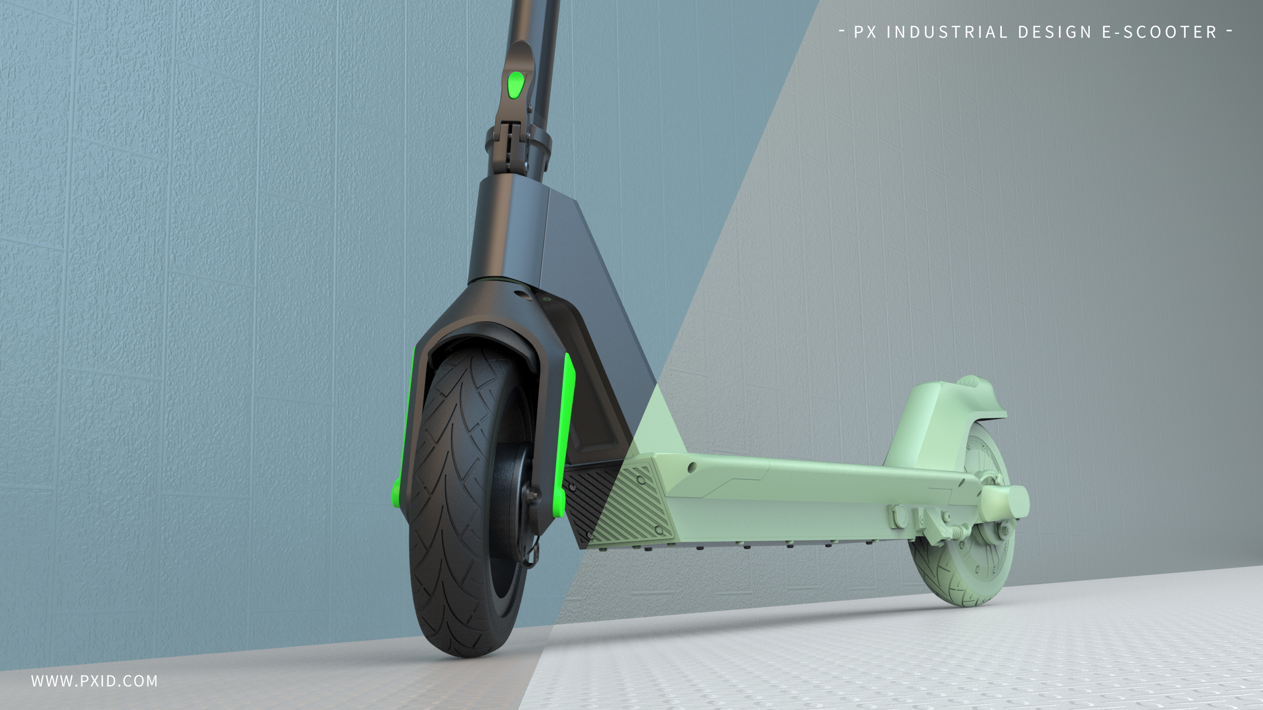 PXID designed e scooter folding electric scooter with removable battery