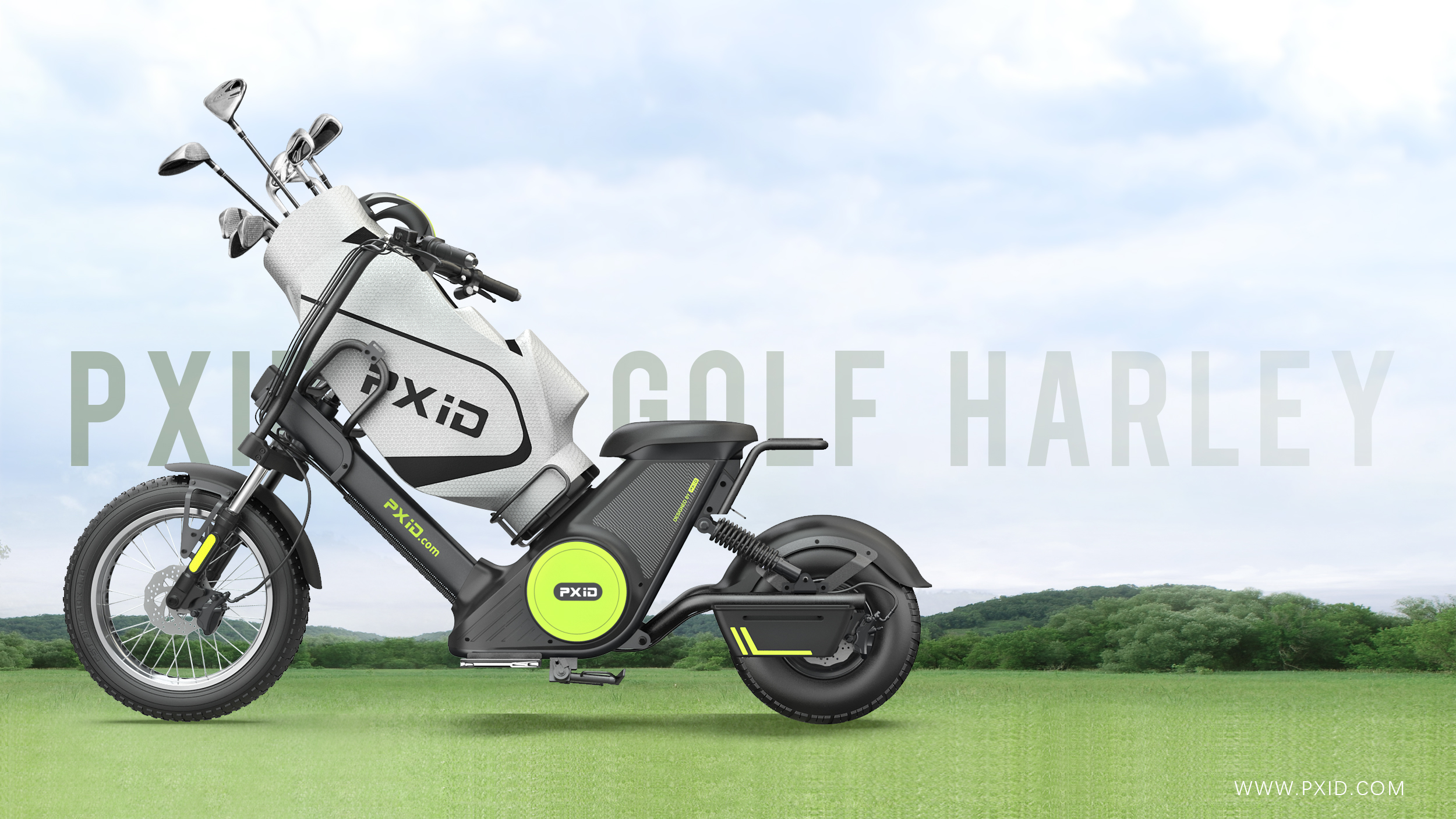 M6G Golf Electric Motorcycle With Large Golf Bag