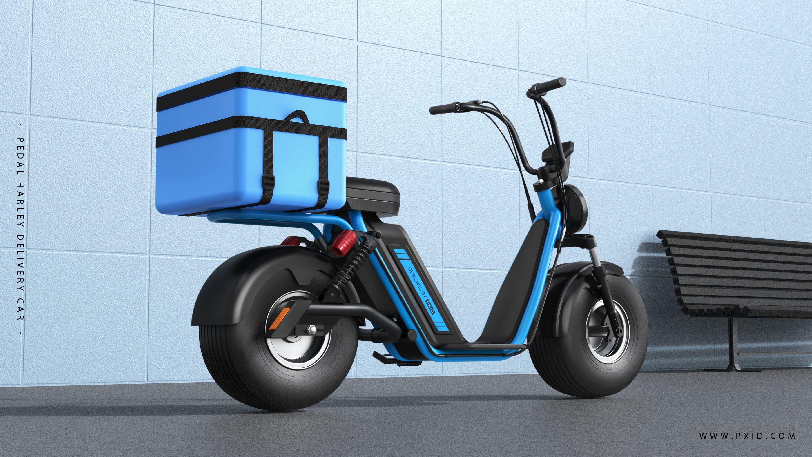 Pedal Harley electric car design-takeaway car