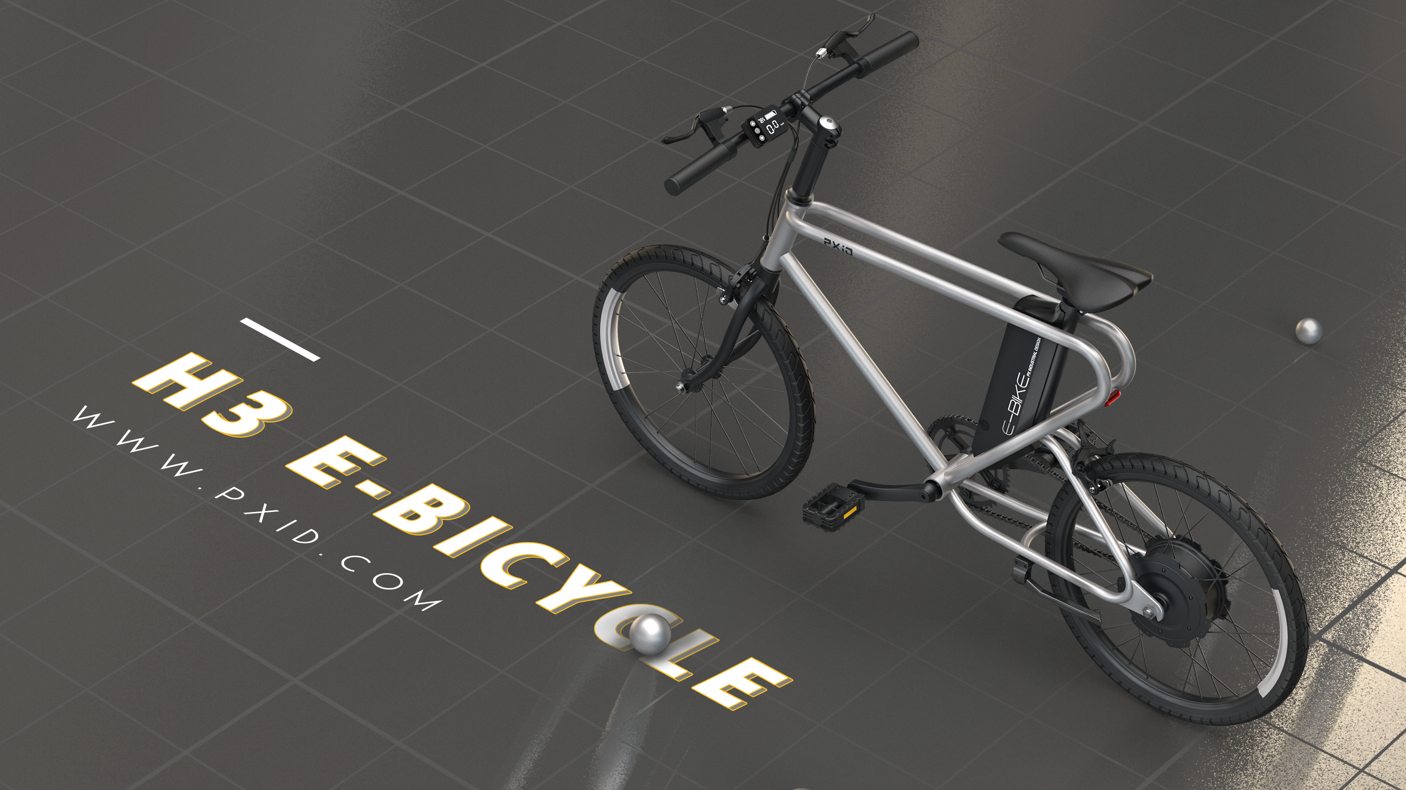 PXID electric Bicycle e bike Design - Option 3