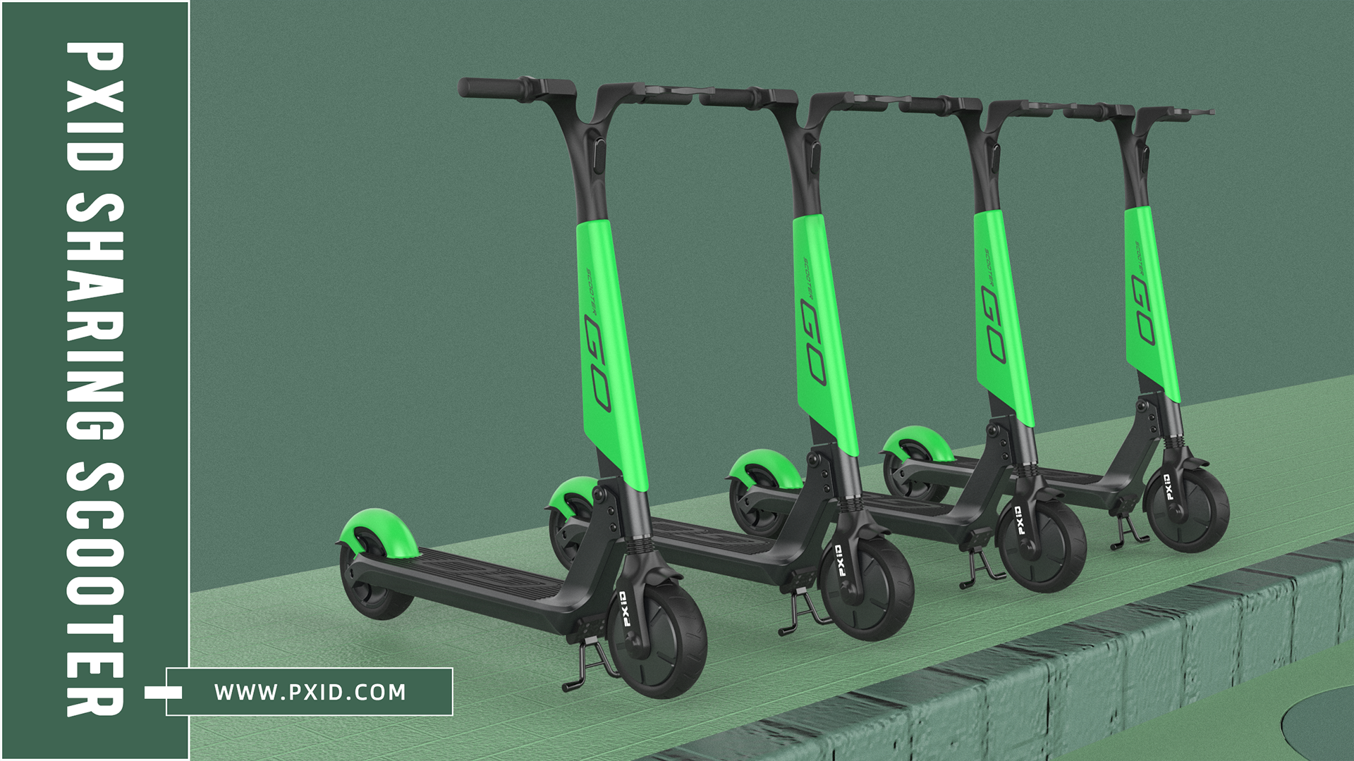 Fast wheel shared electric scooter design
