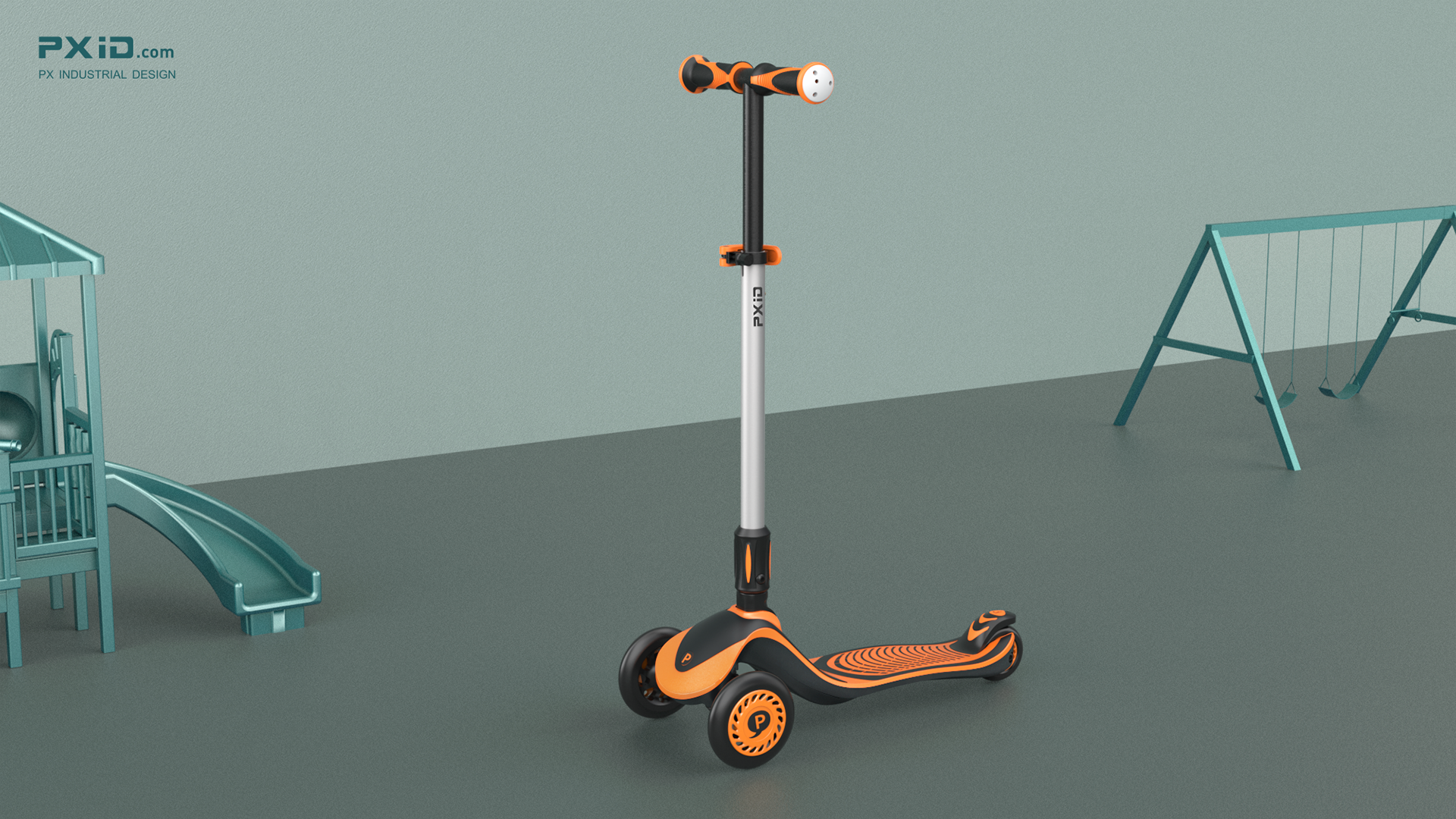Children's rubberized scooter design