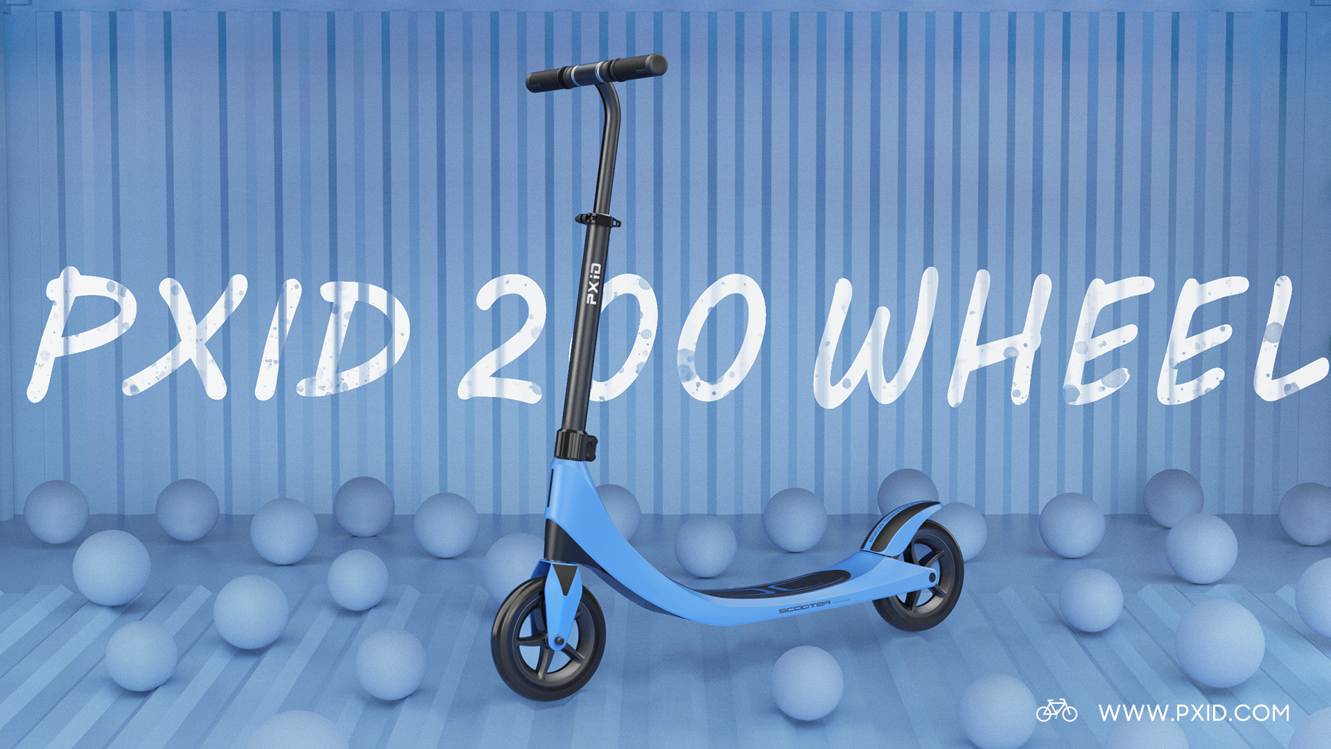 200 wheel non-drive scooter