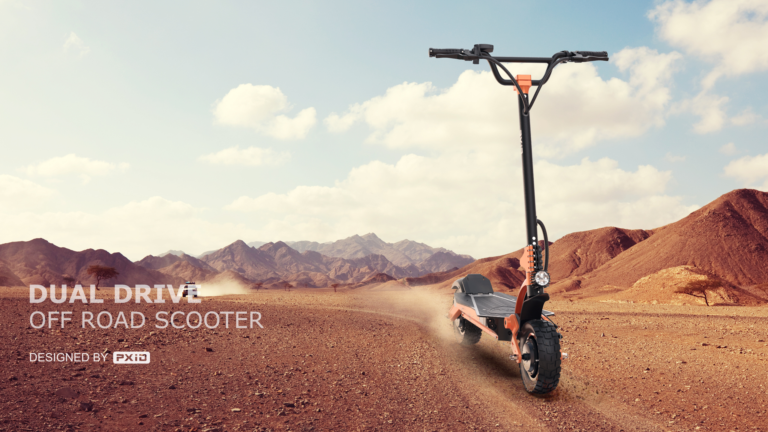 2021 dual-drive off-road electric scooter design