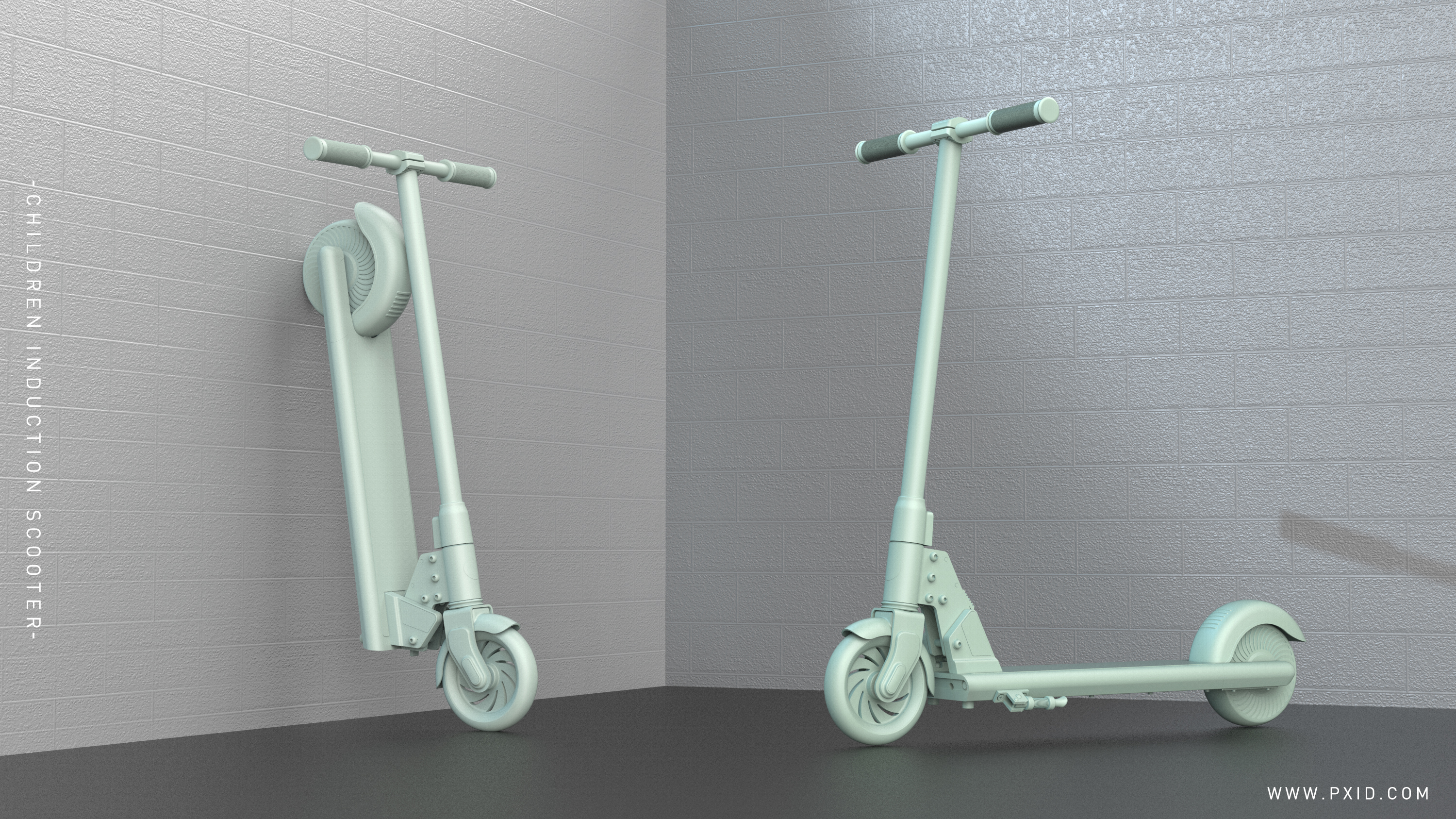 The design of new children's electric scooter designed by PXID