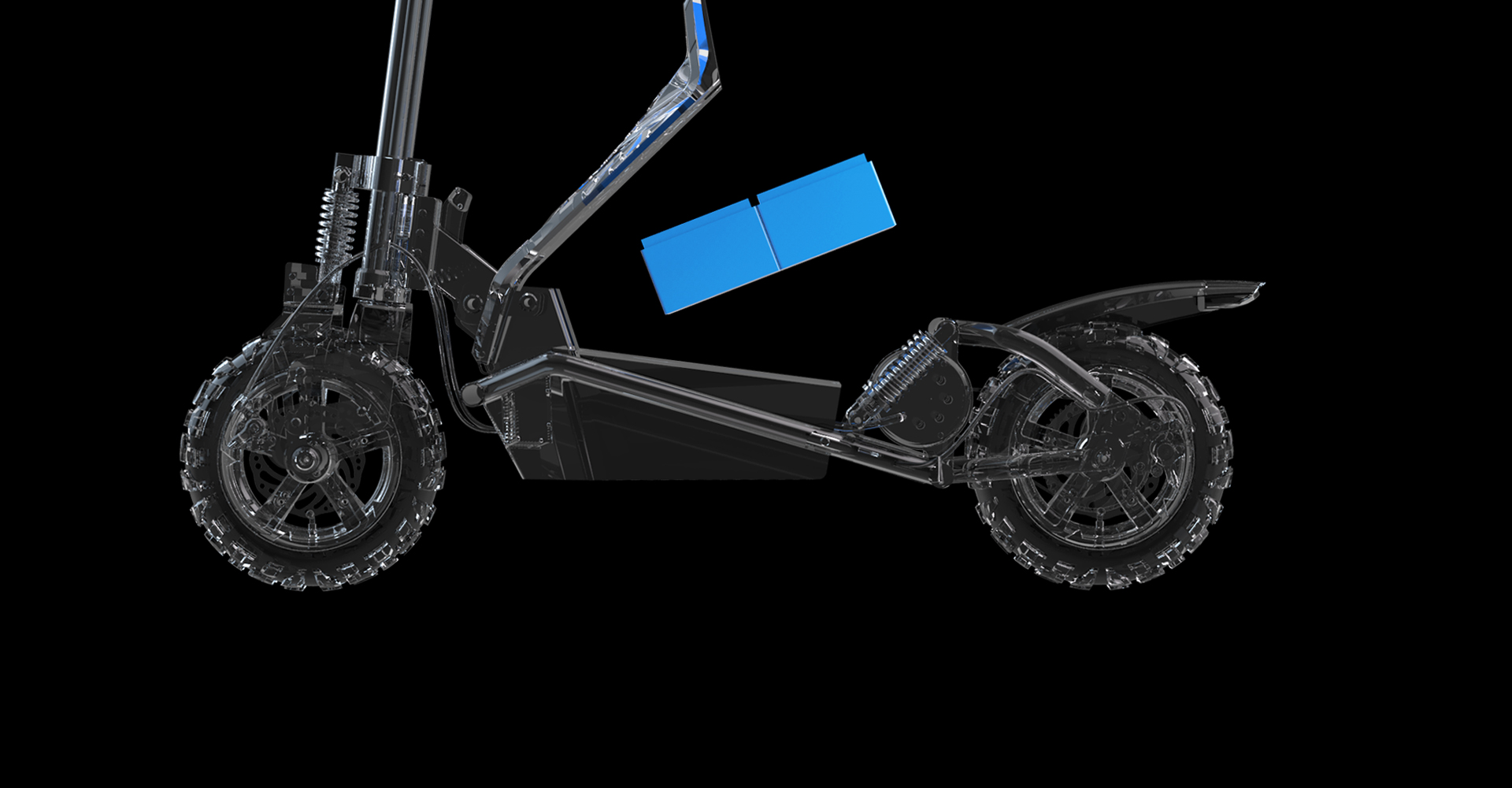 A cross-country city transport tool with a custom motor