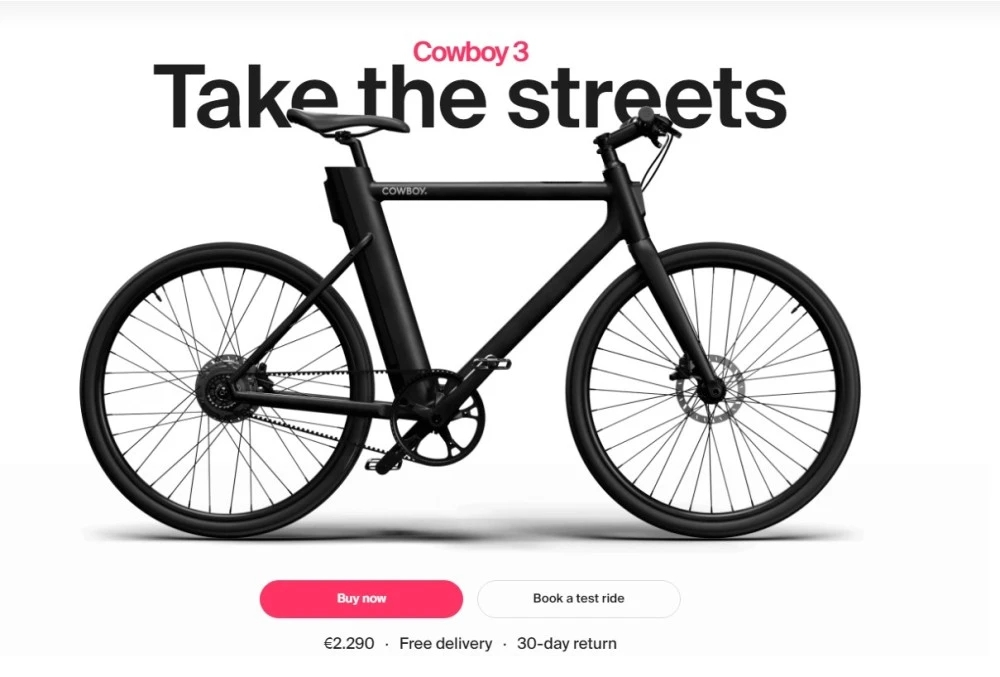 """Introduction of simple, intelligent third-generation electric bicycle, """"Cowboy"""" $26 million Round B financing"""
