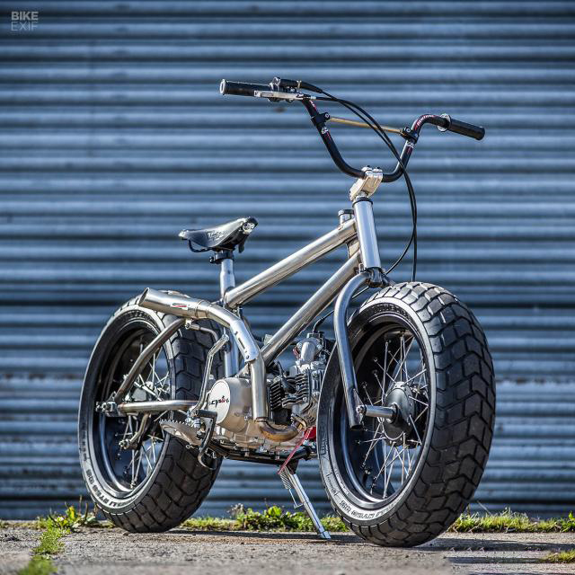 Off-road electric bike, not a motorcycle, really a BMX bike