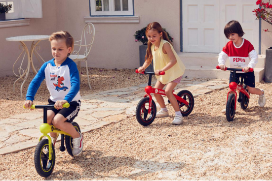 COOGHI has developed a new balance bike for children together with LKK, leading the new fashion with fun and competition
