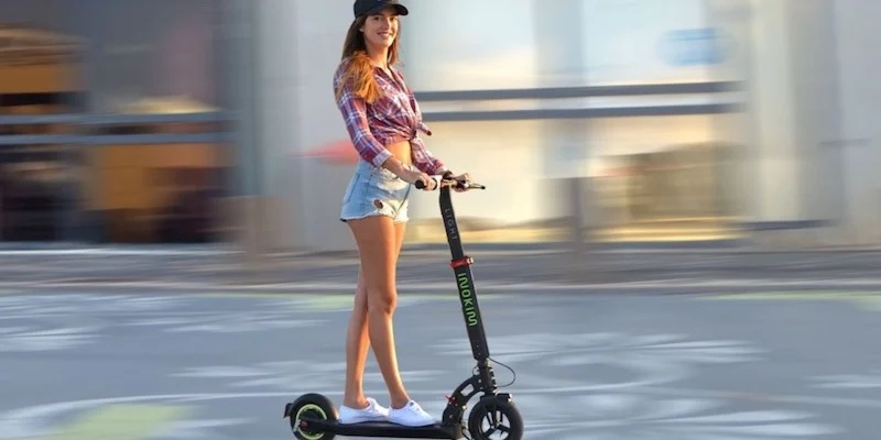This electric scooter is a great way to get around
