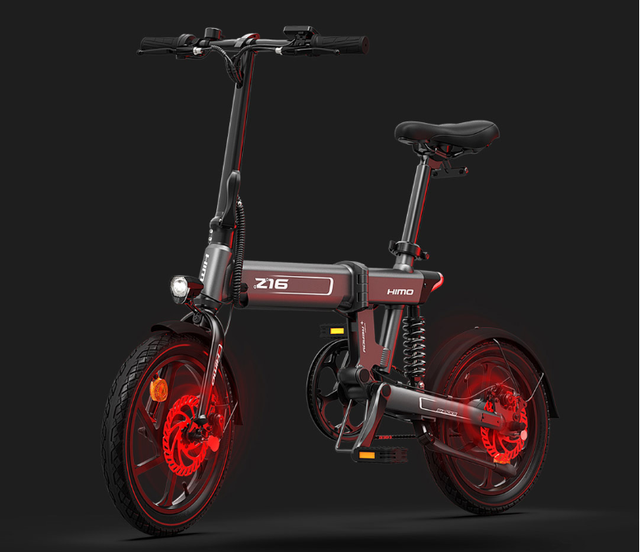 Help you travel easily, HIMO folding electric power bicycle Z16 on shelves Millet have products
