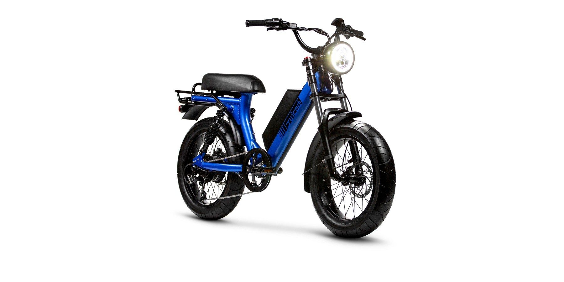 Delivery of Juiced Scorpion scooter-style electric bikes at 28 mph starts