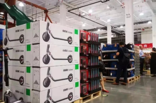 Robotic electric scooter No. 9 settles in Costco supermarket
